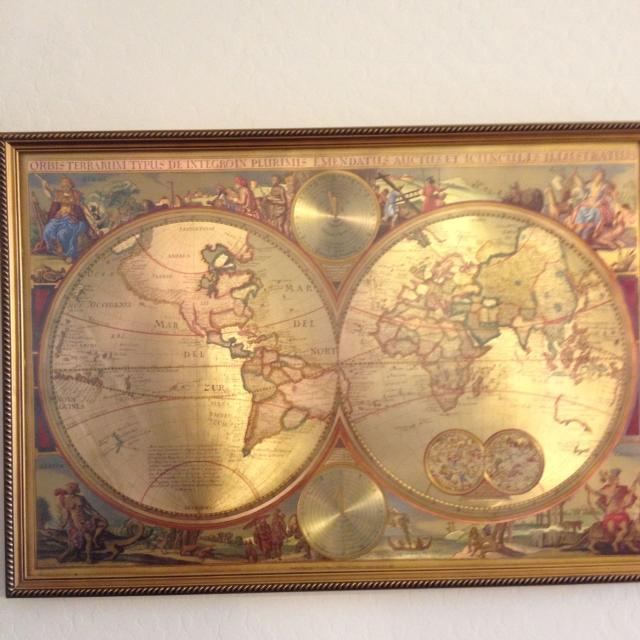 Find More Double Hemisphere Framed World Map For Sale For Sale At - World map for sale