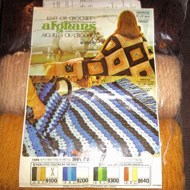 Aronelle Knit or Crochet Afghan kit