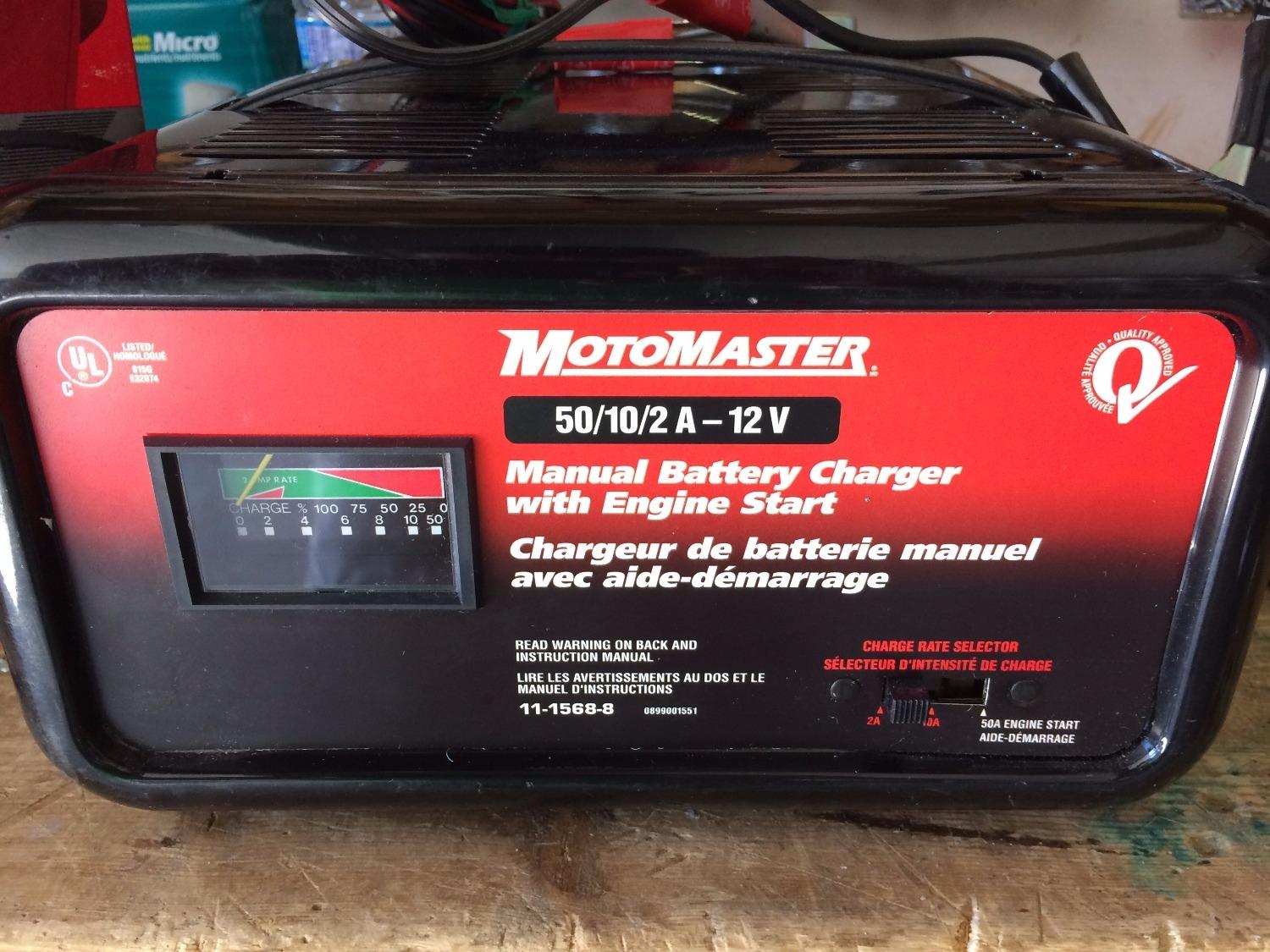 Find more Motomaster 50/10/2a - 12v Manual Battery Charger for sale at up  to 90% off