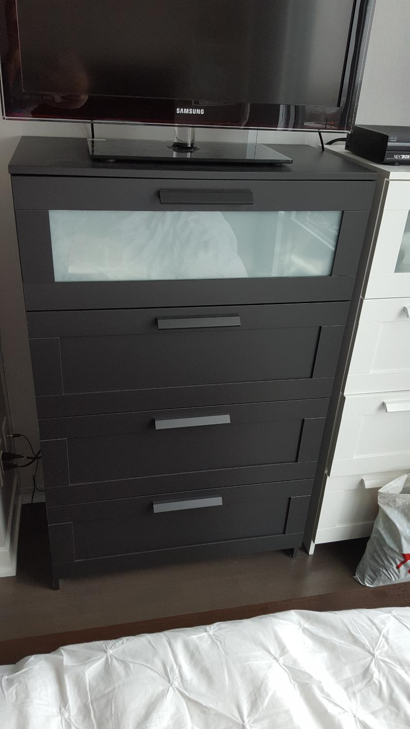 blackbrown picture malm with dressers mirror uk furniture black beautiful dresser magnificent ikea in drawer scenic together