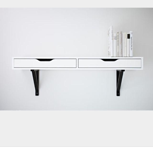find more ikea ekby alex wall shelf with drawers comes with brackets good condition with a. Black Bedroom Furniture Sets. Home Design Ideas