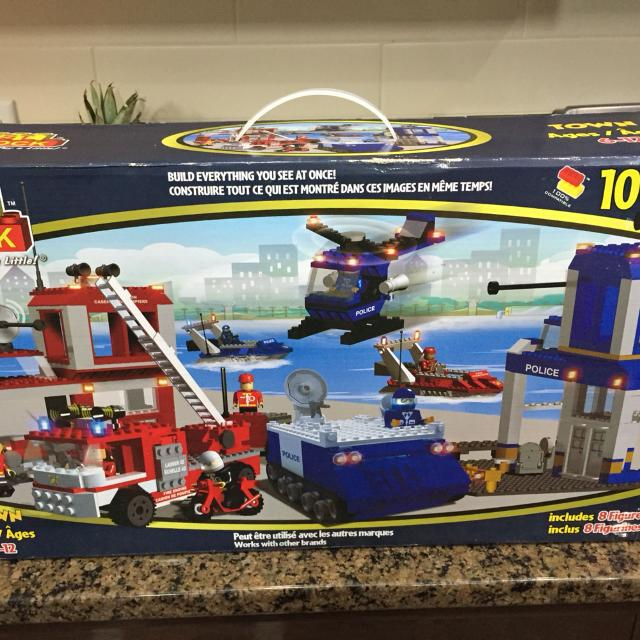 Best Lock Lego (1008 pieces) Fire & Police houses with 8 figures! BRAND  NEW, NEVER OPENED
