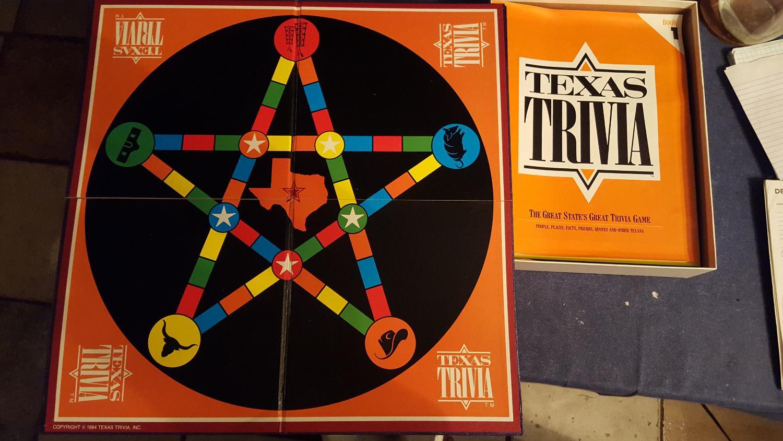 Texas Trivia Board Game