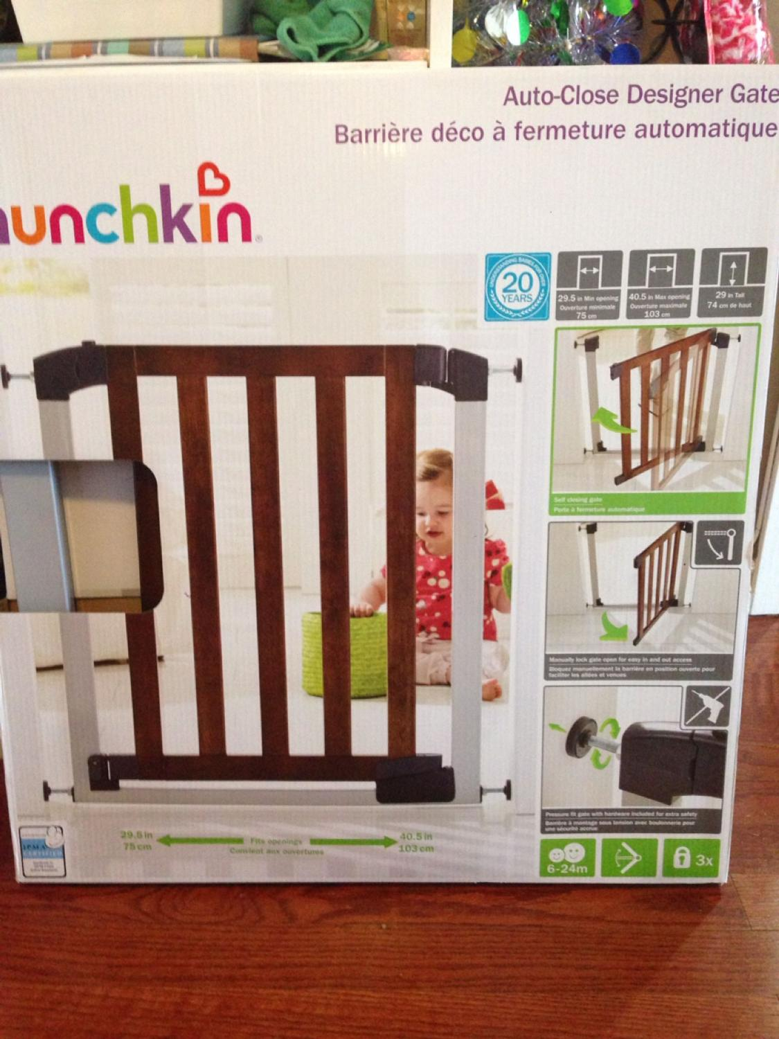 Find More Munchkin Auto Close Designer Gate Bnib For Sale At Up To 90 Off