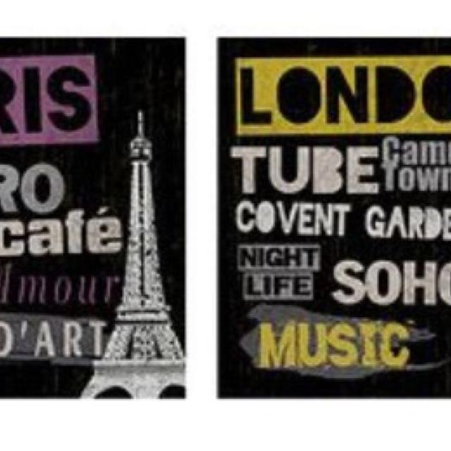 Find More Ikea London And Paris Canvas Prints For Sale At Up To 90 Off