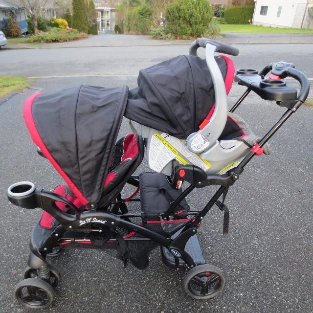 Find more Baby Trend Sit N Stand Double Stroller With Car Seat And ...