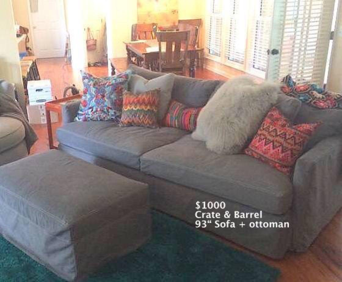 Best Crate Barrel 93 Lounge Ii Sofa Plus Ottoman