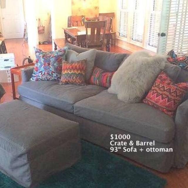 Best Crate Barrel 93 Lounge Ii Sofa Plus Ottoman Decorative