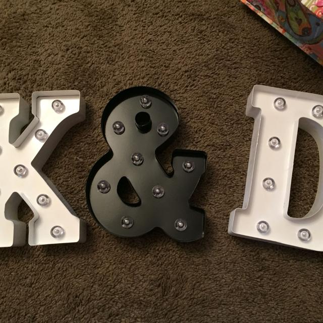 light up letters for sale
