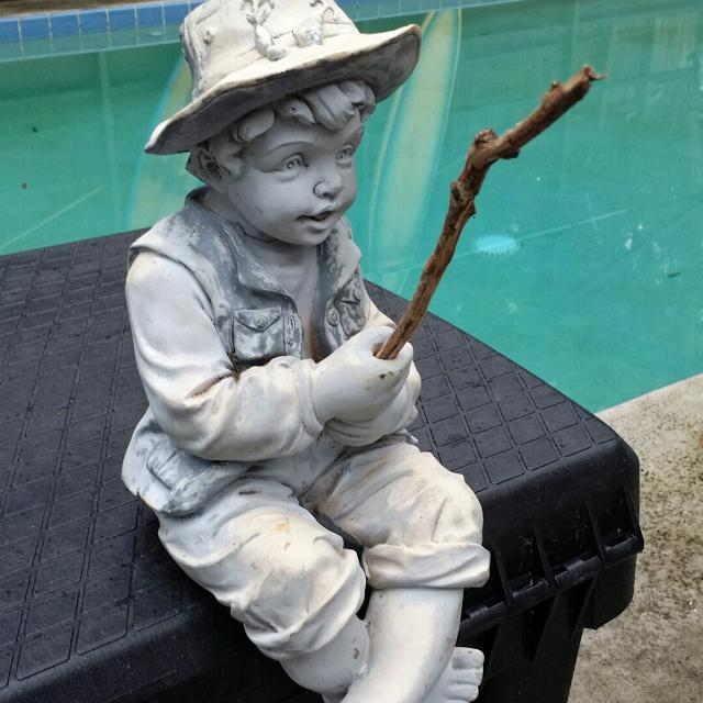 find more vintage little boy fishing yard ornament statue