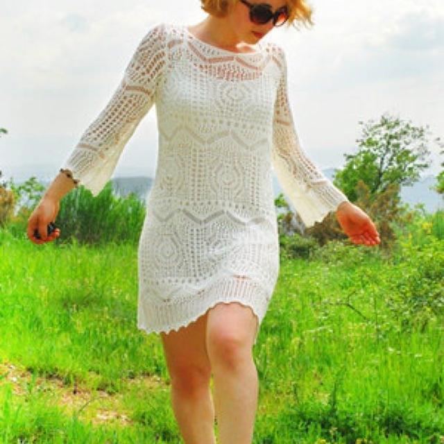 6afe3ef9ce2f6 Find more H&m Crochet Off White Dress for sale at up to 90% off