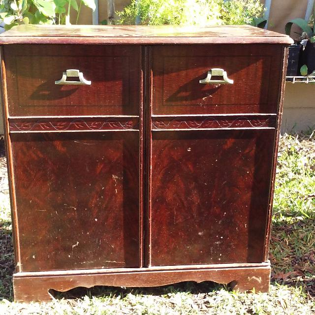 Vintage radio cabinet project (Capehart 1940'S), solid wood in good shape.  $35.00 - Antique Radio Cabinet Value Antique Furniture
