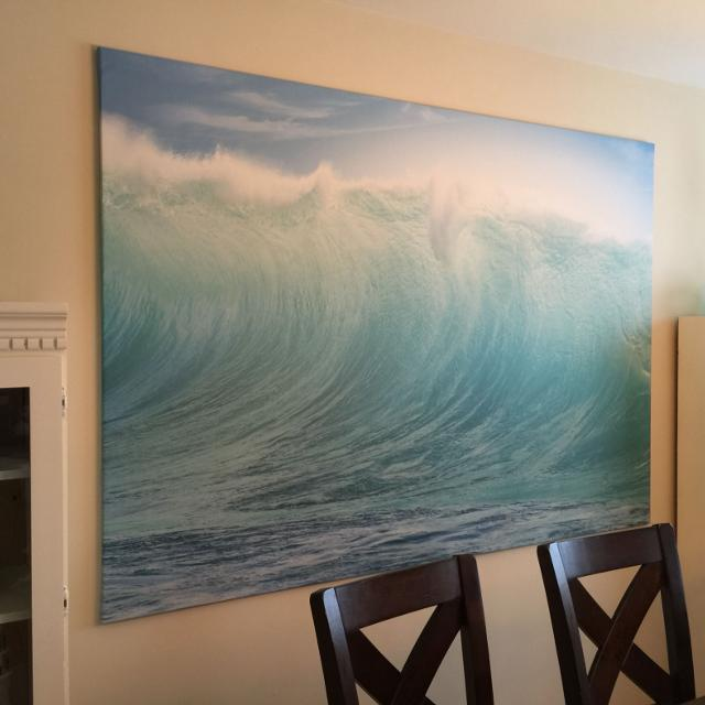Find More Price Drop Ikea Waves Canvas Print 80 Obo For