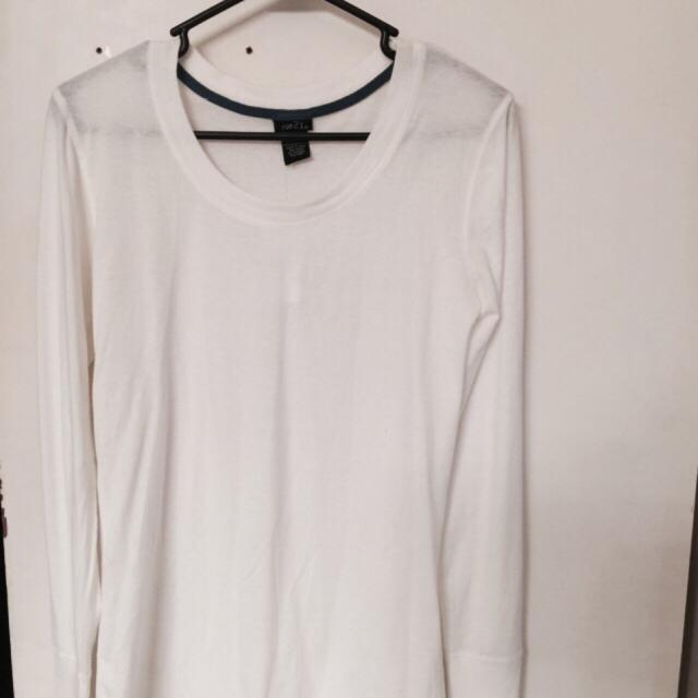 Rue 21 long sleeve shirt - very light cream color  New with tags  Size  large  $5