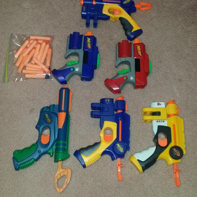 Used Nerf guns with darts