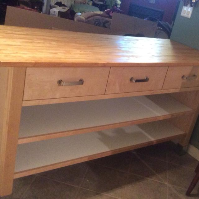 Ikea Kitchen Island 65 Lx25 Dx35 5 H Beautiful Butcher Block