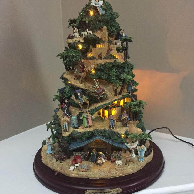 Thomas Kinkade Christmas Tree Guc Includes Papers Of Authenticity