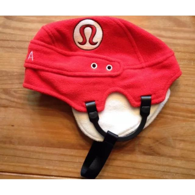 fd0b29b6 Find more Lululemon Red/white Canada Hockey Helmet Fleece Hat Euc ...