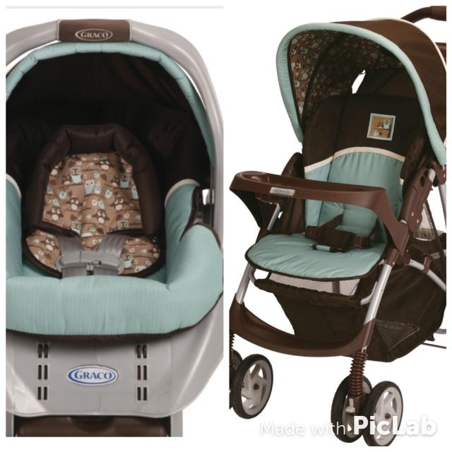 GRACO SNUGRIDE CLASSIC CONNECT CAR SEAT BASE And STROLLER Hoot Collection Owl