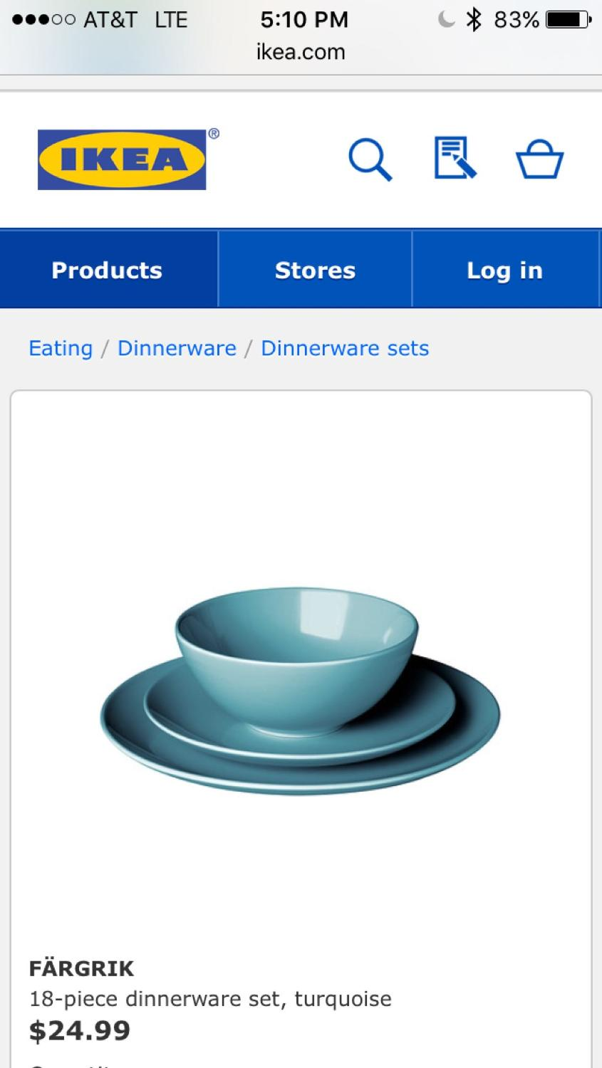 Find more Ikea Färgrik Dinnerware- Full Set for sale at up to 90% off
