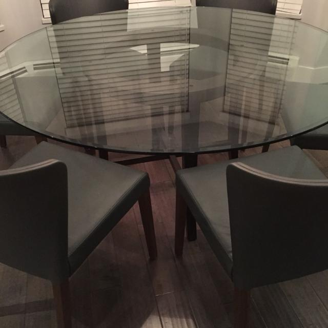 Best Crate Barrel Halo Ebony 60 Round Dining Table For In Richmond British Columbia 2019