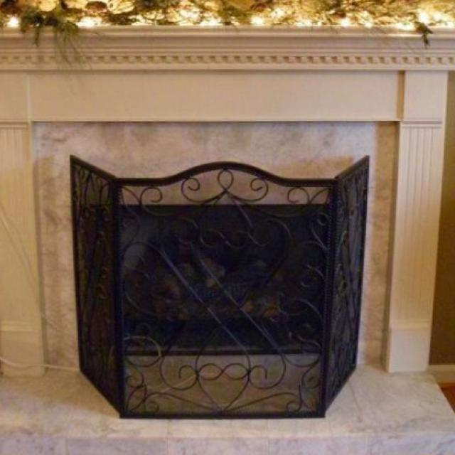 Best Southern Living Willow House Firescreen For Sale In Charming Southern Living Fireplace Screen Window Treatments Nib Cordova Panel Iron Fire Screen New Sou at queertango.us