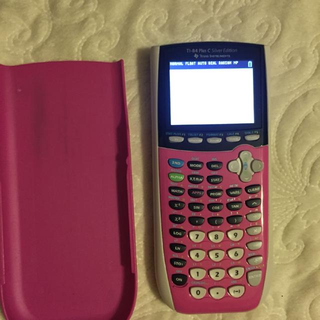 Gently used calculator! TI 84 plus C silver edition  COMES WITH THE CHARGER