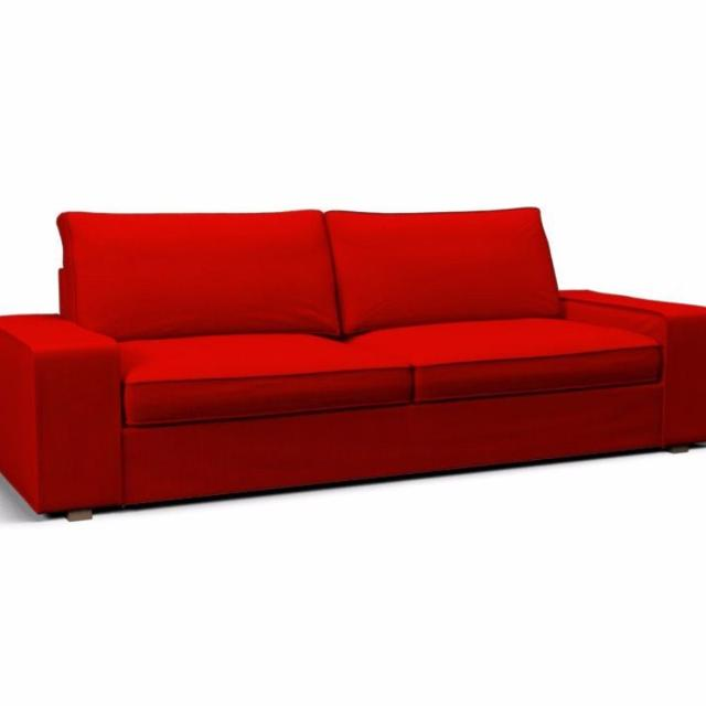 Find More Red Cover For The Ikea Kivik Sofa La Housse Rouge Pour