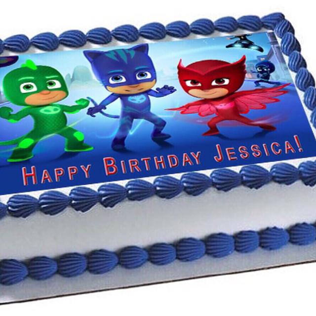 PJ Masks Edible Cake Topper