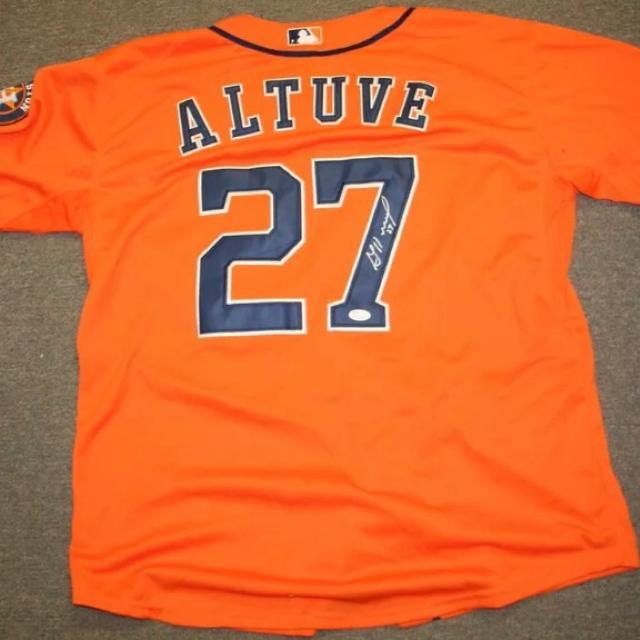 cheaper 4552d e63bb Autographed Jose Altuve Jersey