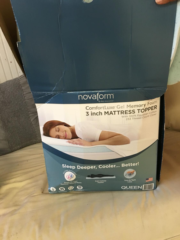 Best Novaform Comfortluxe® Gel Memory Foam Mattress Topper 3