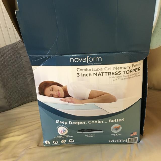 novaform comfortluxe gel memory foam mattress topper Best Novaform Comfortluxe® Gel Memory Foam Mattress Topper 3  novaform comfortluxe gel memory foam mattress topper