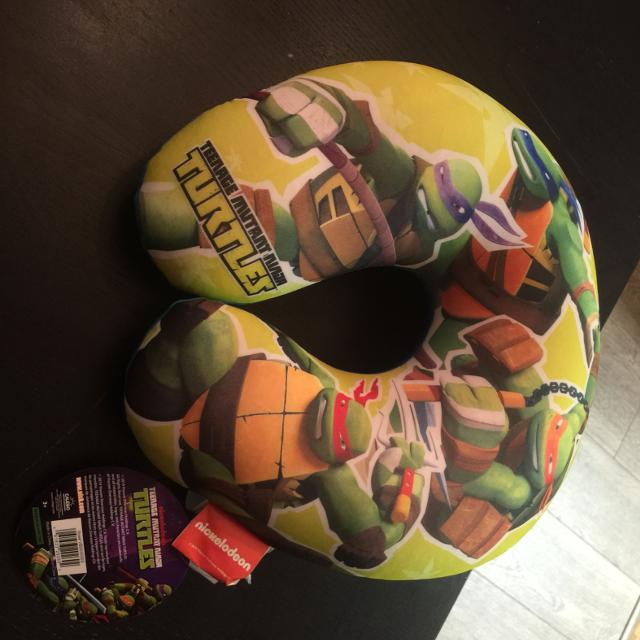 Ninja Turtle Travel Pillow Tags On Never Used Great For Kids Pick Up Ladner No Tagging 5