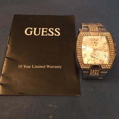 Guess Ladies Square Sparkling Crystal... for sale  Canada