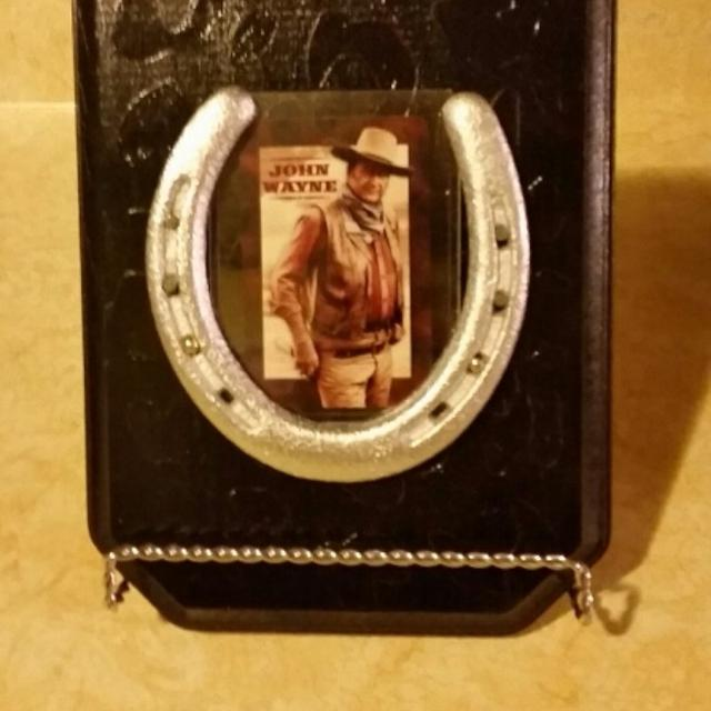 Find More John Wayne Card In A Real Horseshoe Wall Plaque 6 By 9