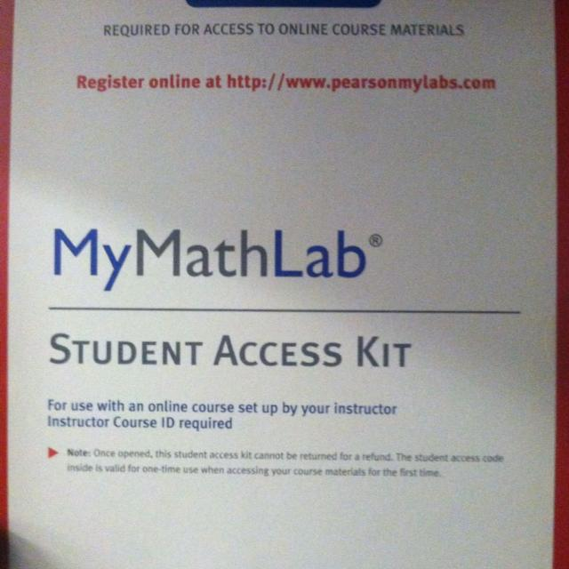 Find More Unused Mymathlab Student Access Kit For Sale At Up To 90 Off