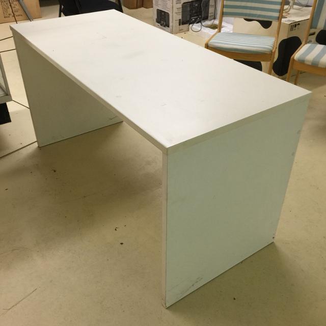 White Desk No Drawers