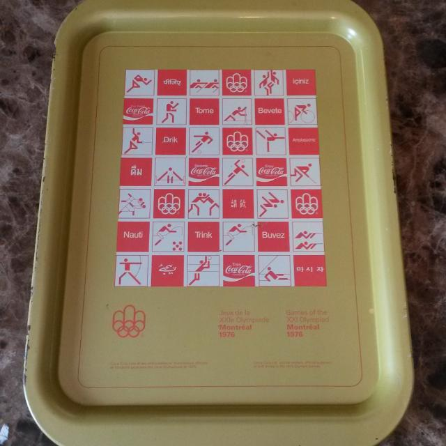 1975 Coca-Cola Montreal Olympic tray