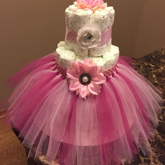Best Custom Made Three Tier Tutu Diaper Cake For Sale In Wichita Kansas For 2021