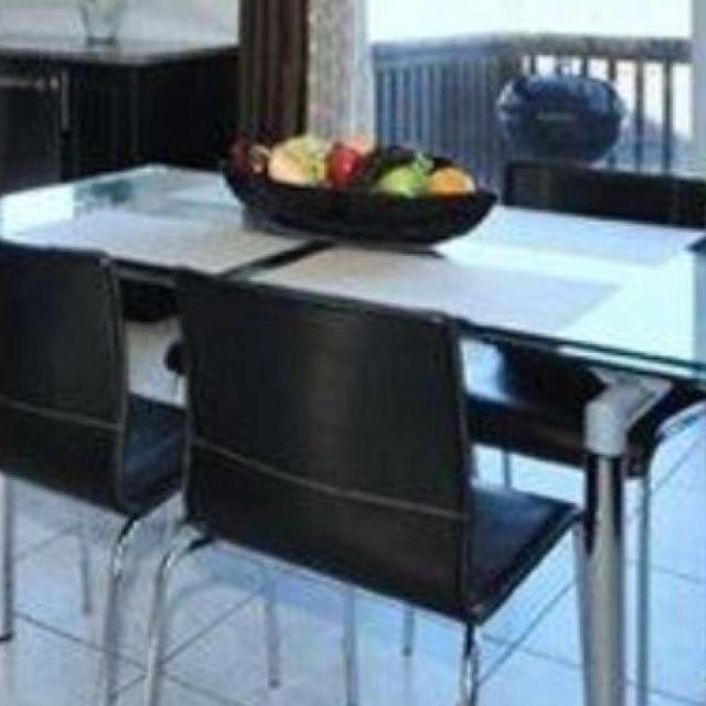 Find More Structube Europa Glass Extendable Dining Table