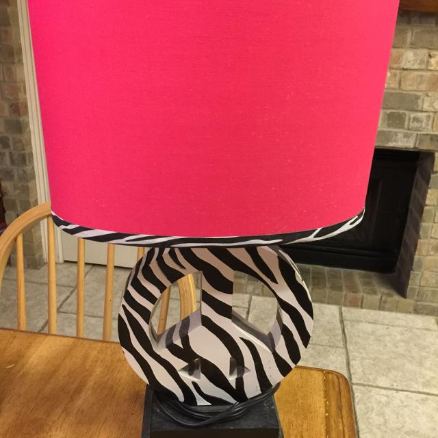 Find more zebra print wooden peace sign lamp with hot pink lamp zebra print wooden peace sign lamp with hot pink lamp shade like new condition 2500 aloadofball Gallery