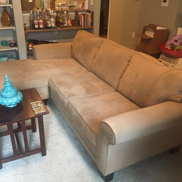 Sectional Suede Sofa For Sale