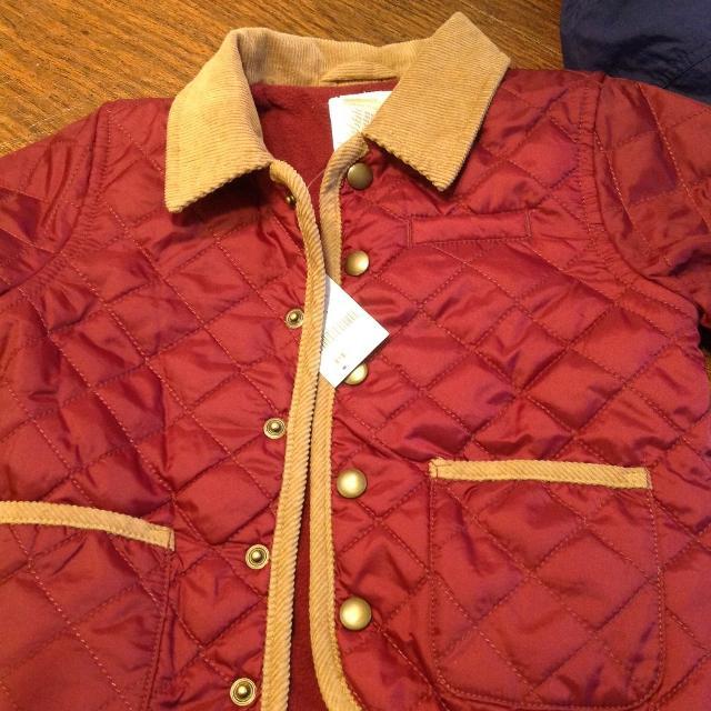 420ab8bd3b61 Best Nwt New Gymboree Coat Corduroy Quilted Barn Coat Burgundy Boy ...