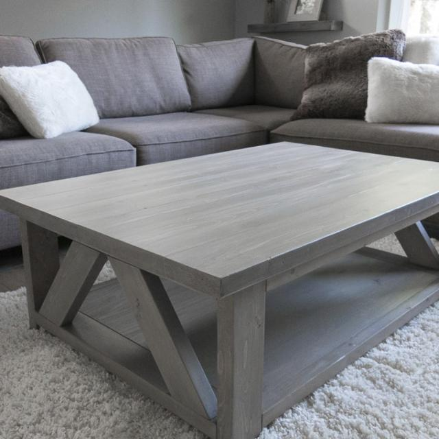 Find More Solid Wood Coffee Table Stained In A Warm Light