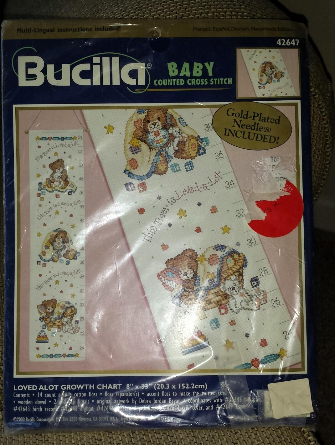 Best Loved Alot Growth Chart Counted Cross Stitch Kit For Sale In
