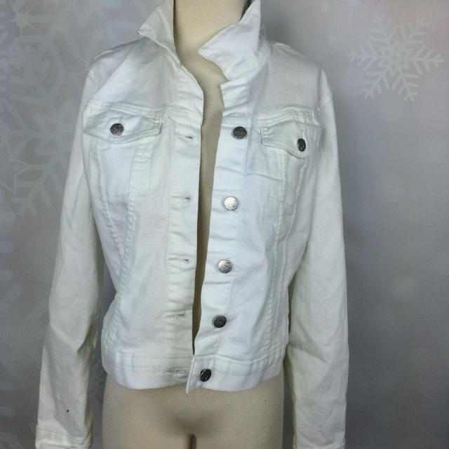4efce11823 Find more New Jessica Simpson Pixie Jacket White Size L for sale at ...
