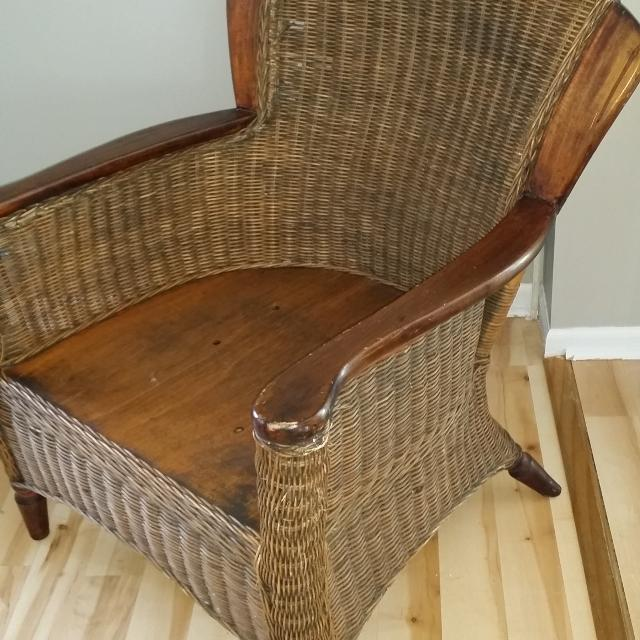Best Pier 1 Imports Wicker Chair For Sale In St. Charles