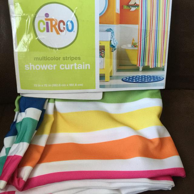New Circo Shower Curtain Multicolor Stripes