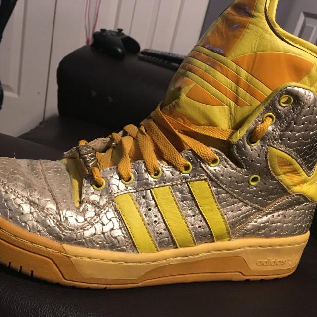 best sneakers 14d0e 868f8 Best Jeremy Scott Adidas Yellow silver Hightops Big Tongue Size Us 10 for  sale in Richmond, British Columbia for 2018