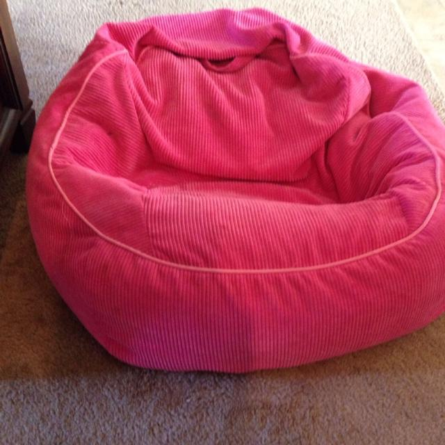 Hot Pink Beanbag Bag Chair S Bedroom Reading Nook Area Decorations Soft Paid 39 99 Target